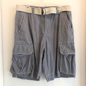 Men's short pant white and blue size 34